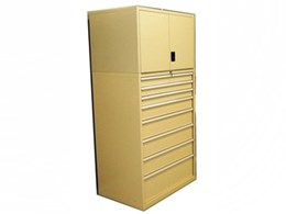 High density secure storage cabinets from Actisafe with lockable top cupboard