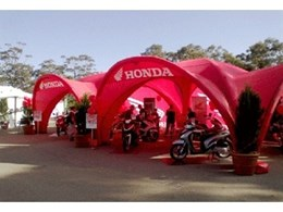 Honda impressed by event tents from SI Retail