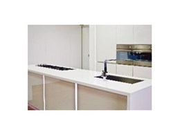 Infinity acrylic benchtops available from Hafele Australia