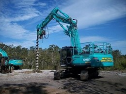 Innovative Multi-Piling System Uses Kobelco Excavator