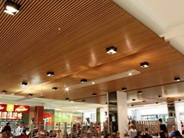 Innowood cladding and screen systems in shopping centres