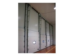 Insulated sectional doors available from DMF International