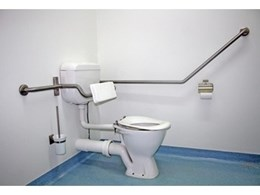 JD MacDonald offers disabled-compliant back rests for accessible toilets