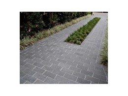 Jet Black Basalt stone pavers from Cinajus used for residential project