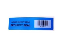 KNR self adhesive security seals available from Harcor Security Seals
