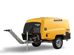 Kaeser Mobilair 50 portable compressors now in a robust new PE sound enclosure