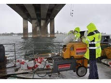 Kennards Concrete Care grout mix pumps hired for remedial work on Captain Cook Bridge