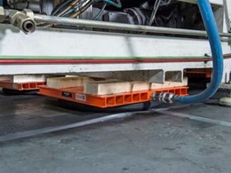 Kennards Hire air skates move 15 tonne machine without floor damage