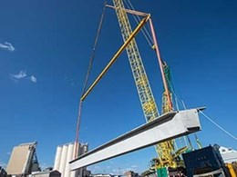 Kennards Hire helps lift concrete girders in Toowoomba roadway project