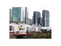 Kennards Hire provide 3.5 tonne excavators for Crown Casino project