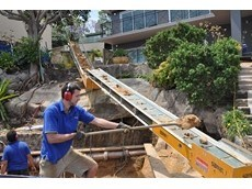 Kennards Lift & Shift supply mini conveyors for pool excavation project