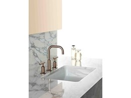 Kohler introduces timeless rose gold finish for bathroom tapware