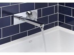 Kohler's new Viteo pin lever tapware fits new semi industrial bathroom chic