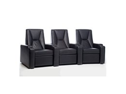 LP Morgan CineTheatre leather motorised recliner chairs available from Herma Technologies