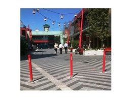 Leda Security Products' Commodore bollards installed in Brisbane's China Town mall