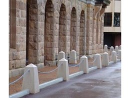 Leda-Vannaclip's Cairo pre-cast concrete bollards at Supreme Court in Perth