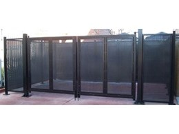 Leda-Vannaclip supply waste bin enclosure for Melbourne Fire Brigade