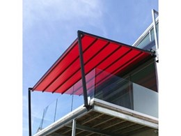 Leiner SunRain Pergola retractable roof system available from Abesco Blinds and Awnings