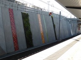 Leppington Train Station gets greenwalls