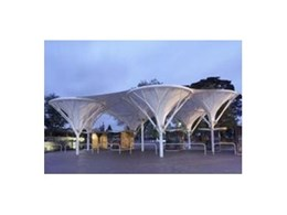 MakMak install tree inspired fabric structure at Flemington Racecourse