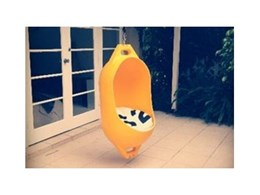 Marine Buoy – Hanging Chair by Deck on show at designEx 2012