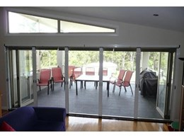 Maxi pleated flyscreens from Freedom Retractable Screens ideal for large doors and outdoor areas