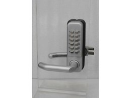 Mechanical digital lock for frameless glass doors available from Locks Galore