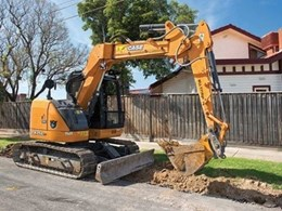 Melbourne civil and road reconstruction company depends only on Case fleet