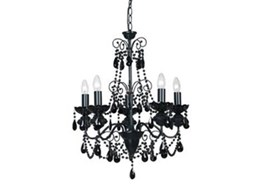 Mercator Charlotte black crystal chandeliers from OzLighting