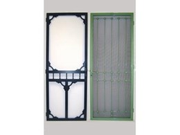 Metal flyscreen doors available from Period Details