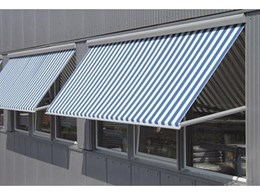 Metro Box fall arm awnings available from Eurofurst