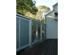 Metzen Louvres Pty Ltd's external manual adjustable balustrade louvres