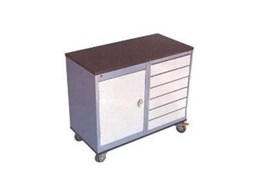 Mobile workbench and tool trolleys available from Spacepac Industries