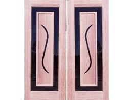 Modern designed timber panels at Crow Doors International
