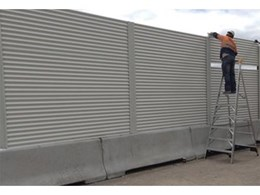 Modular Wall Systems installs acoustic screening panels on kerb to reduce noise