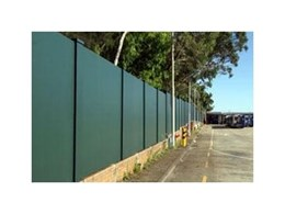 Modular noise attenuation wall installed at Waverly Bus Depot by Modular Wall Systems