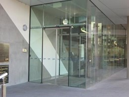 NGU model Frameless glass automatic door from ADIS Automatic Doors