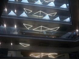 Neon lighting used in new NAB building in Docklands