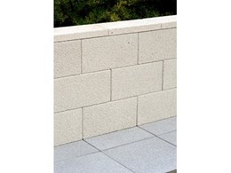 New Adbri Versastone retaining wall system, perfect for a poolside summer