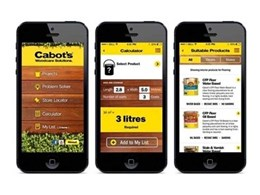 New Cabots app featuring woodcare solutions for the home