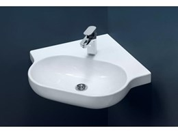 New Caroma Opal Sole occupancy basins meet aged care and disabled requirements