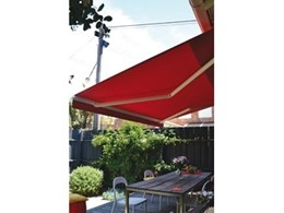New Easyshade motorised folding arm awnings available from Downee