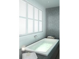 New Vitality range of rectangular baths and spa baths available from Caroma
