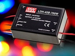 New constant current LED drivers fron MeanWell LDH-45 series