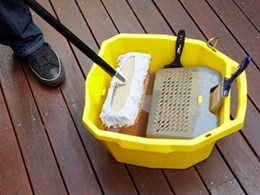 New deck bucket from Cabots makes protecting decks easier