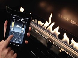 New fireplace allows control using mobile devices