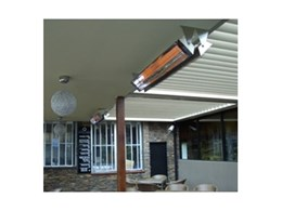 New generation electric outdoor radiant heaters from Alfresco Spaces supplied for the Oscars Hotel Group