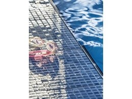 New glass mosaic pool tiles by Amber Tiles made using zero emission recycling process