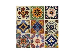 Old World Tiles offers mixed sets of handmade Mexican tiles