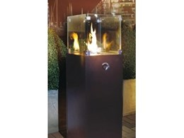 Outdoor gas fireplaces and flares, available from Real Fires
